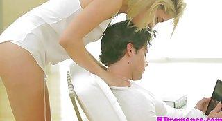 Young attractive couple hot love making