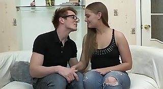 Casual Teen Sex - Fucking in sexy glasses