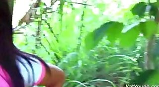 Kat Young out in the wood