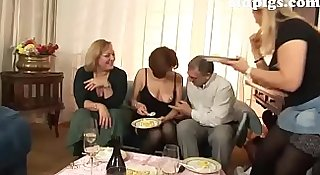Orgy for a group of mature sluts!